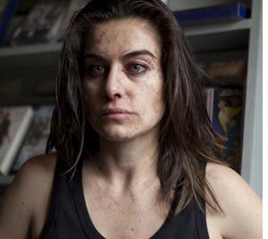 Ingrid, convertida en zombie.